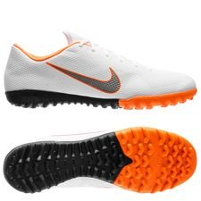 nike mercurial vaporx 12 academy tf just do it - hvid/grå/orange - fodboldstøvler
