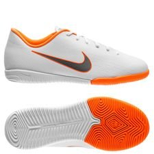 Nike Mercurial VaporX 12 Academy IC Just Do It - Wit/Oranje Kinderen