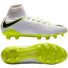 nike hypervenom phantom 3 pro df fg just do it - white/volt - football boots