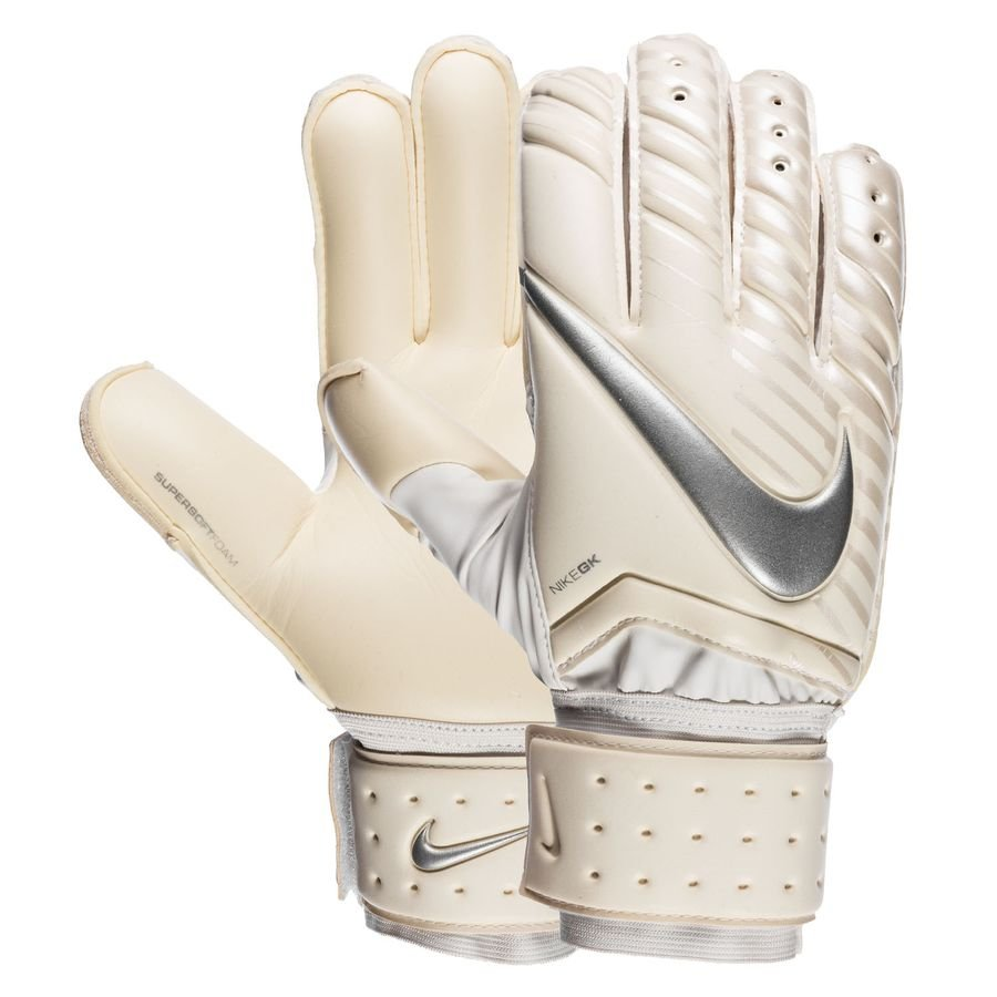 Nike Gants de Gardien Spyne Pro Just Do It - Blanc/Chrome