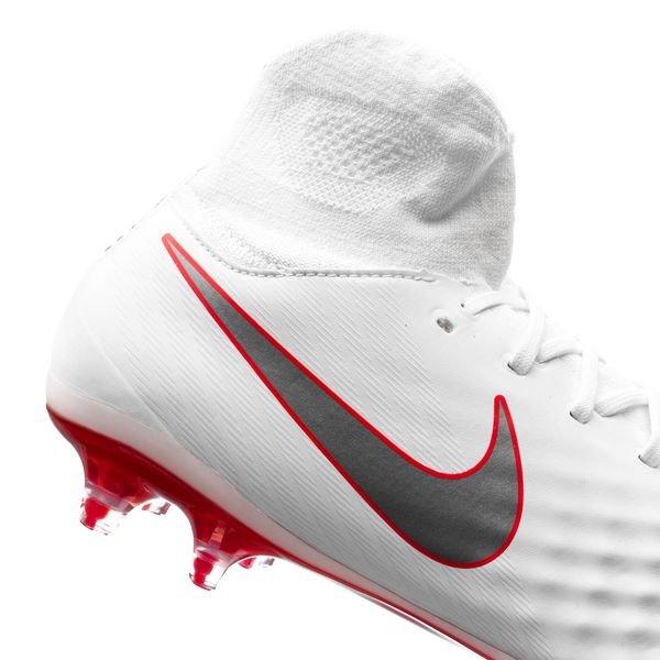 best website 31e0a 6bbd4 Nike Magista Obra 2 Pro DF FG Just Do It - Vit Röd