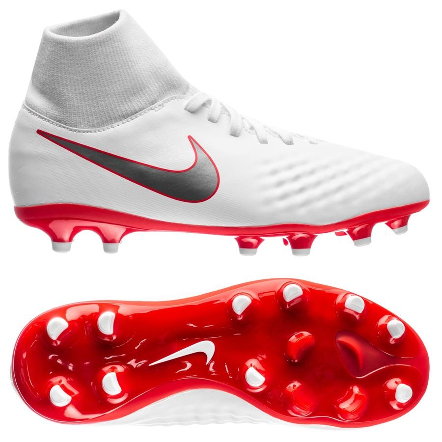 7dd30d8c7196 nike magista obra 2 academy df fg just do it - white lite crimson kids ...