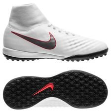 nike magista obrax 2 academy df tf just do it - white/lite crimson kids - football boots