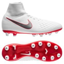 Nike Magista Obra 2 Academy DF AG-PRO Just Do It - Wit/Rood Kinderen