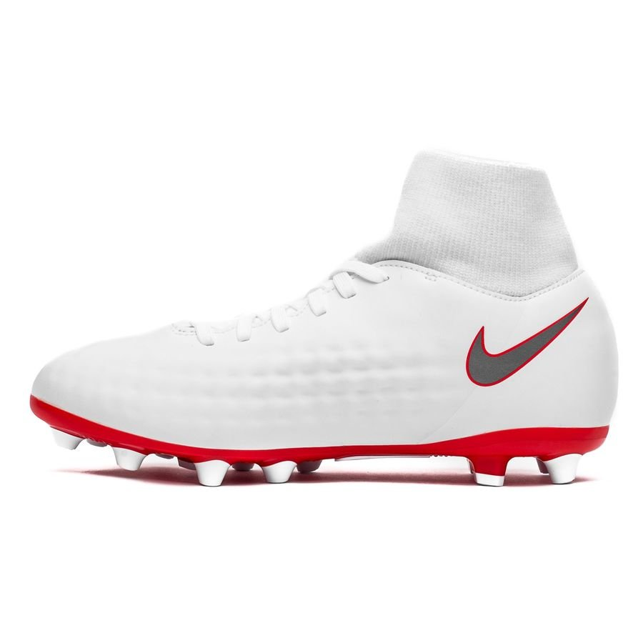 Nike Magista Obra 2 Academy DF AG PRO Just Do It WeißRot Kinder