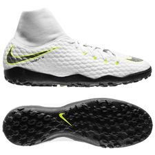 Nike Hypervenom PhantomX 3 Academy DF TF Just Do It - Wit/Neon