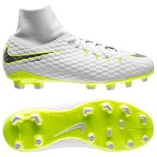 Nike Hypervenom Phantom 3 Academy DF FG Just Do It - Wit/Neon Kinderen