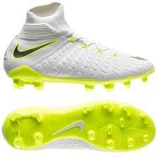 nike hypervenom phantom 3 elite df fg just do it - hvid/neon børn - fodboldstøvler