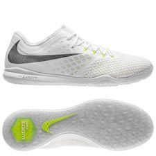 nike hypervenom phantom 3 pro zoom ic just do it - white/metallic cool grey - indoor shoes