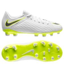 Nike Hypervenom Phantom 3 Academy FG Just Do It - Wit/Neon Kinderen