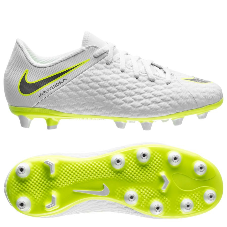 aa42d64289f Nike Hypervenom Phantom 3 Academy AG-PRO Just Do It - White Volt Kids