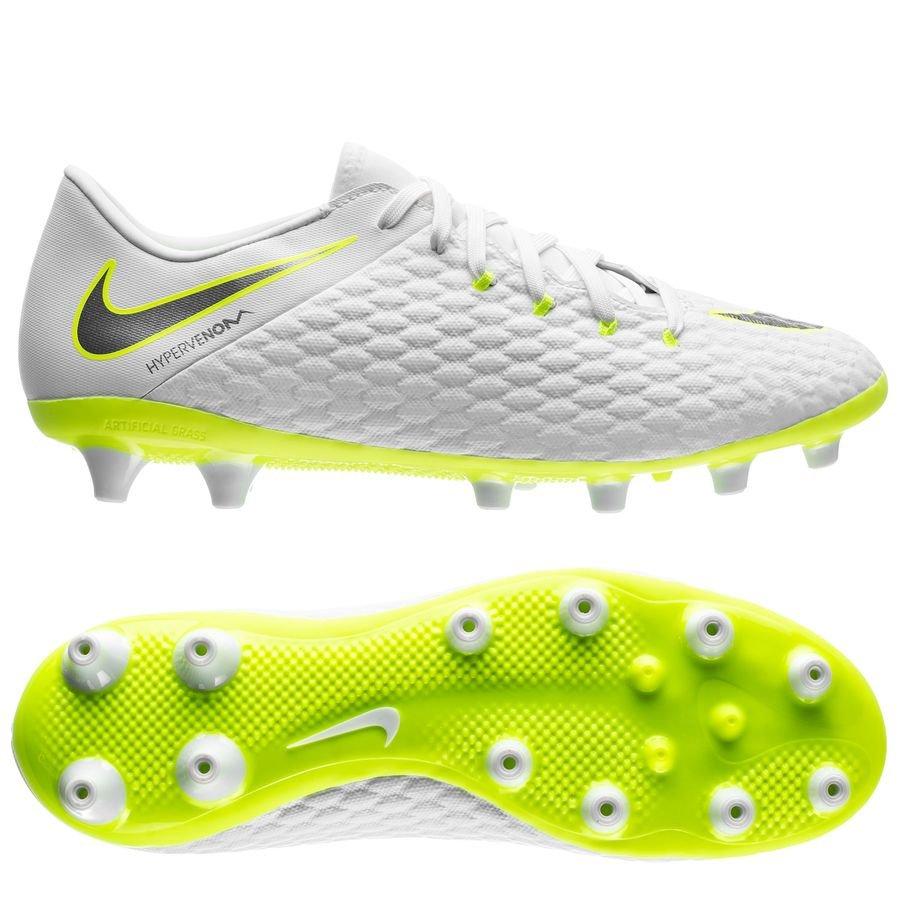 Nike Hypervenom Phantom 3 Academy AG-PRO Just Do It - Blanc/Jaune Fluo
