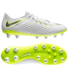 nike hypervenom phantom 3 academy ag-pro just do it - white/volt - football boots