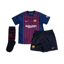 barcelona hjemmebanetrøje 2018/19 mini-kit børn - fodboldtrøjer