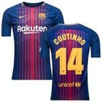 barcelona heimtrikot 2017/18 coutinho 14 kinder - fußballtrikots