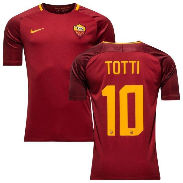 as roma hjemmebanetrøje 2017/18 totti 10 - fodboldtrøjer