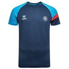 denmark t-shirt - blue/red - t-shirts