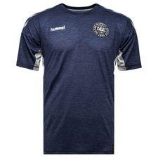 danmark trænings t-shirt tech move - navy børn - træningstrøjer