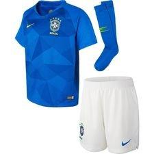 brasilien udebanetrøje vm 2018 mini-kit børn - fodboldtrøjer