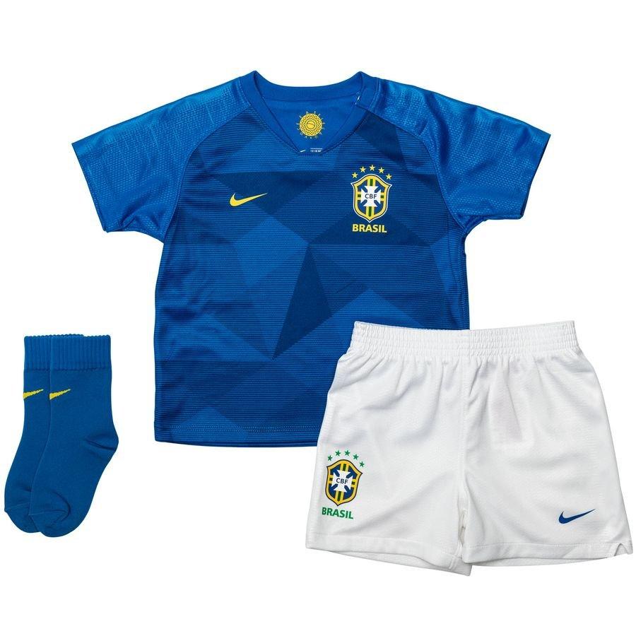 Brésil Maillot Extérieur Coupe du Monde 2018 Kit-Bébé Enfant