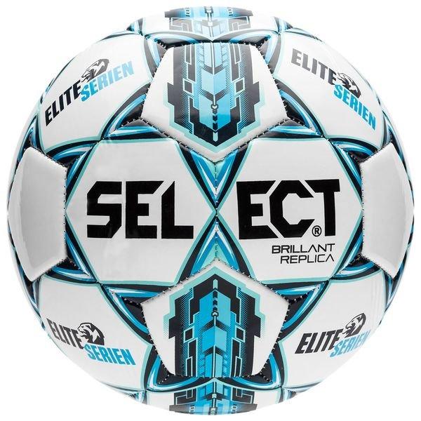 Select football brillant replica eliteserien white blue for Blue select