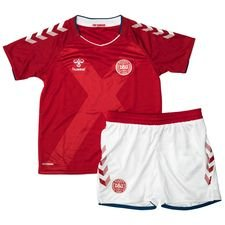 denmark home shirt world cup 2018 mini-kit kids - football shirts