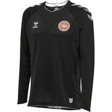 danmark målmandstrøje vm 2018 l/æ sort pro player edition - fodboldtrøjer