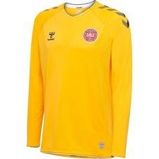 denmark goalkeeper shirt world cup 2018 l/s yellow pro player edition - football shirts