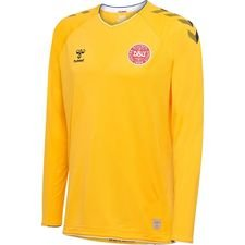 denmark goalkeeper shirt world cup 2018 l/s yellow pro player edition - football shirts