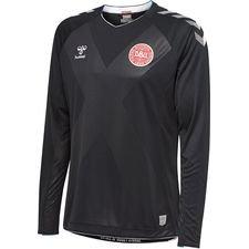 denmark goalkeeper shirt world cup 2018 l/s black kids - football shirts