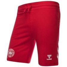 danmark shorts dbu - rød børn - træningsshorts