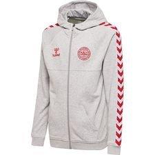 denmark hoodie fz - grey/red kids - hoodies