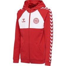 denmark hoodie fz - red/white kids - hoodies