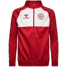 danmark track top - rød/hvid - træningstrøjer