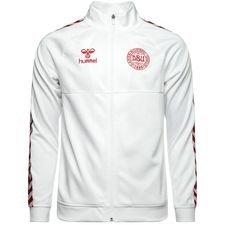 danmark track top - hvid/rød - træningstrøjer