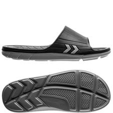 hummel slide jensen - black/grey - sandals