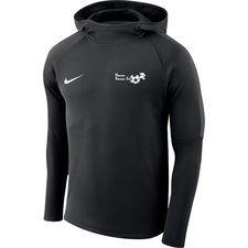 hf2000 - træningstrøje m. hætte sort - hættetrøjer