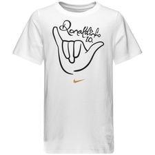 nike t-shirt logo 10r - hvid/guld børn - t-shirts