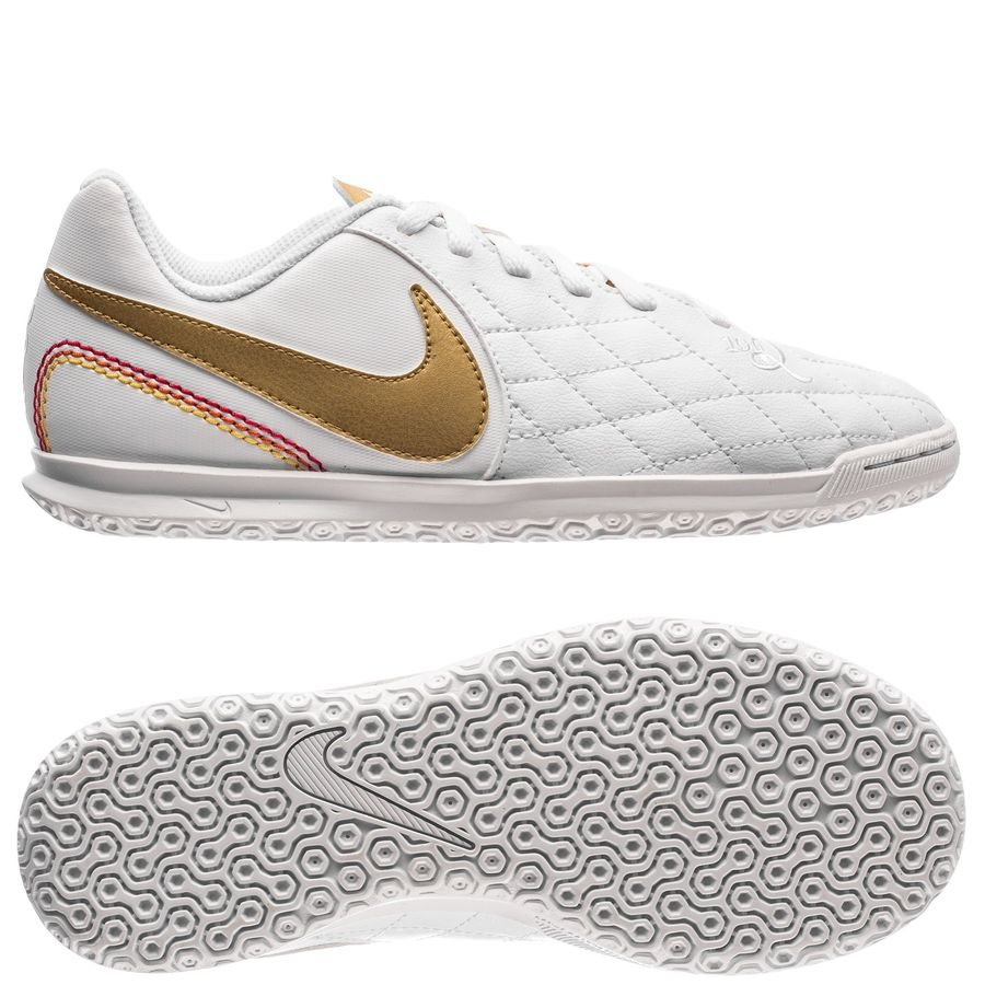 39f4543e64e nike tiempo legendx 7 club ic 10r - white metallic gold kids - indoor shoes  ...