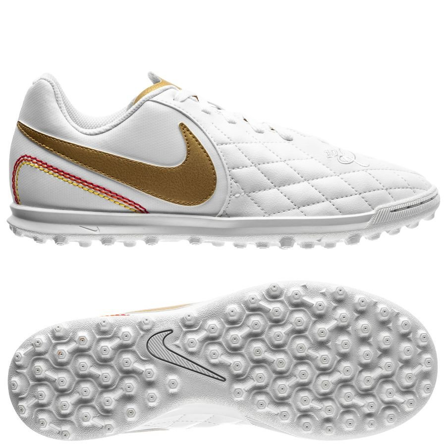 Nike Tiempo LegendX Club TF 10R - Weiß/Gold Kinder 3EIqk