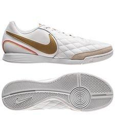 nike tiempo legendx 7 academy ic 10r - hvid/guld - fodboldstøvler