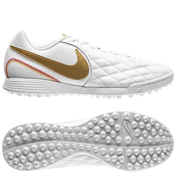 check out ee826 49784 Nike Tiempo LegendX 7 Academy TF 10R - White/Metallic Gold ...