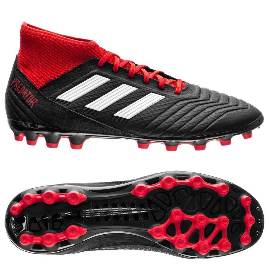 adidas PRougeator AG Team Mode Core Noir Footwear Blanc Blanc Blanc Rouge 080c6c