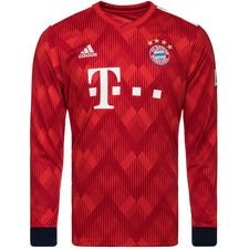 bayern münchen home shirt 2018/19 l/s kids - football shirts