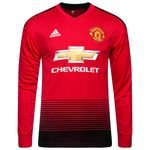 Manchester United Home Shirt 2018/19 L/S Kids