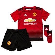 manchester united hjemmebanetrøje 2018/19 baby-kit - fodboldtrøjer