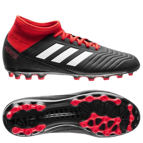 840321063fd adidas Predator 18.3 AG Team Mode - Core Black Footwear White Red ...