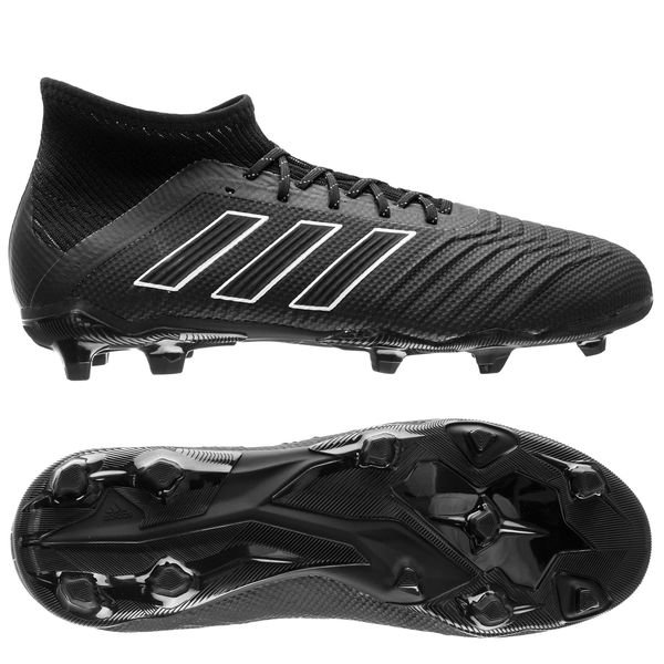 new style 49d3c 919be adidas Predator 18.1 FG AG Shadow Mode - Svart Vit Barn