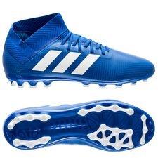 adidas nemeziz 18.3 ag team mode - blå/hvid børn - fodboldstøvler