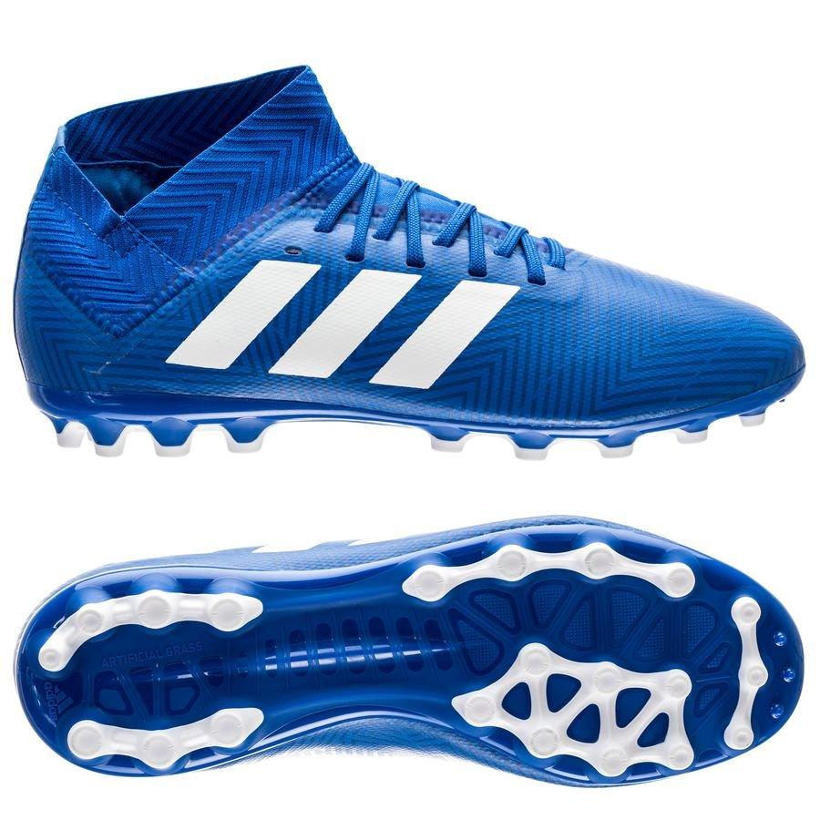 dedc623246b7 adidas nemeziz 18.3 ag team mode - blau weiß kinder - fußballschuhe ...